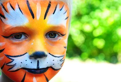 maquillage lion enfant
